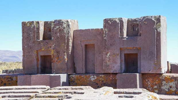 Tiwanaku (Spanish: Tiahuanaco or Tiahuanacu) is a Pre-Columbian archaeological site in western Bolivia near Lake Titicaca and one of the largest sites in South America.
